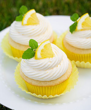 Frosted Lemon Cupcake